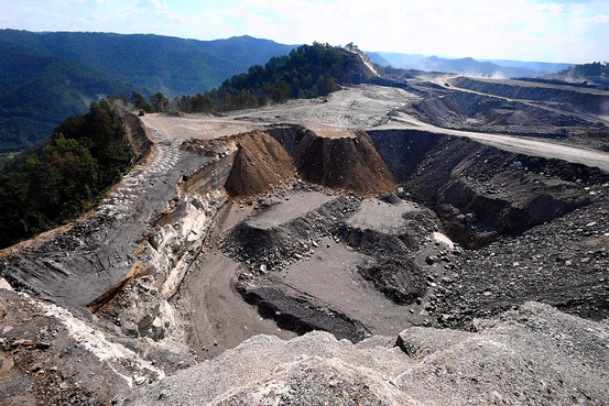 image of mountaintop removal strip mine