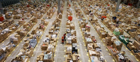 the fulfillment centers are typically huge and employ thousands during peak season