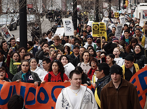 immigrant youth march