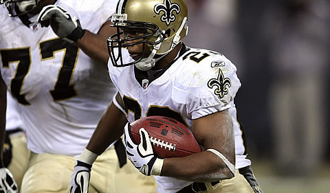 Pierre Thomas of the New Orleans Saints